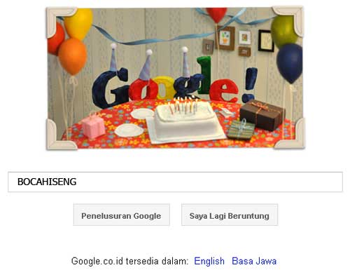 ulang tahun google