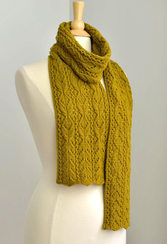 Robin Ulrich Studio: New Bosc Scarf Knitting Pattern & Recipe