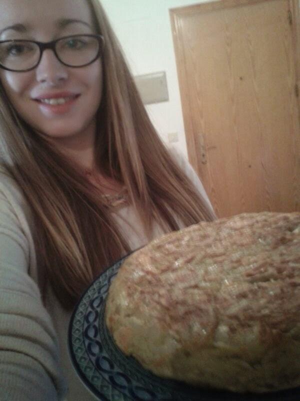 La jefa del proyecto con la tortilla