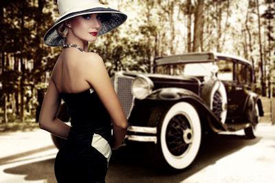 Cómo añoro aquéllos tiempos que se han ido - Mujeres hermosas y autos de lujo en imágenes vintage