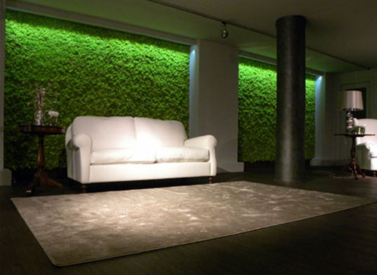 Moss Tiles Bring The Outdoors In Without Mess And Use Nature To Enhance An Interior Environment