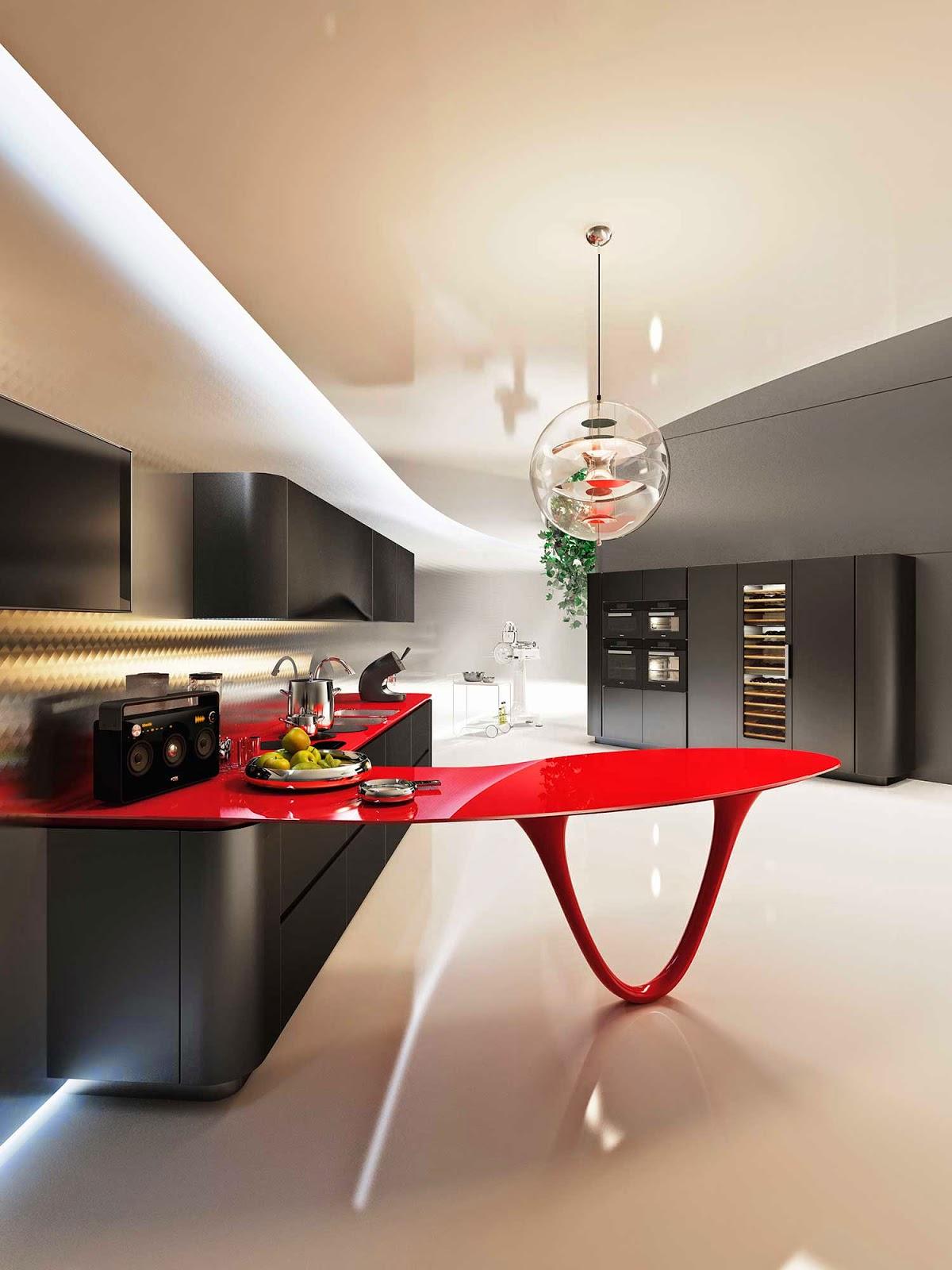 Muebles Para Baño Ferrari:Marzua: Espectaculares muebles basados en Ferrari para la cocina