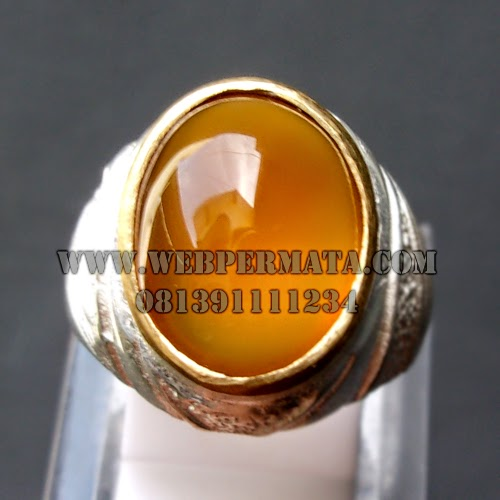 Cincin Batu King Keladen, Batu Keladen Golden Supreme, Natural Yellow Chalcedony