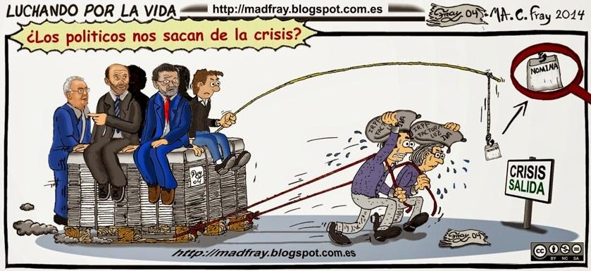 """Viñeta de Humor: Reforma laboral y fiscal, bienvenidos a """"supervivientes 2014"""" Mad Fray"""