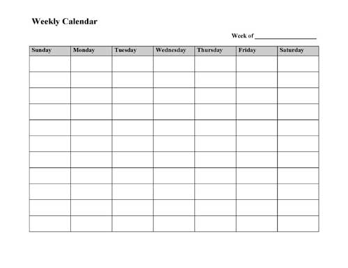 All Templates: Daily Calendar Template