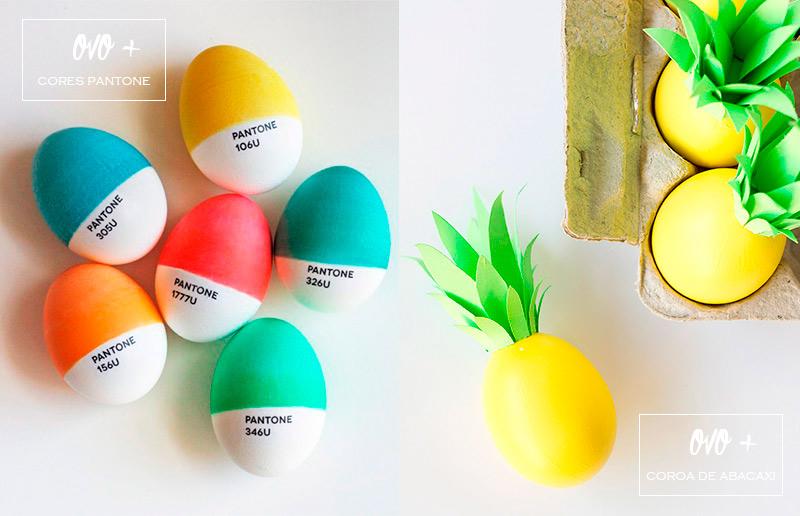 Ideia criativa para ovo de Páscoa: Pantone a abacaxi