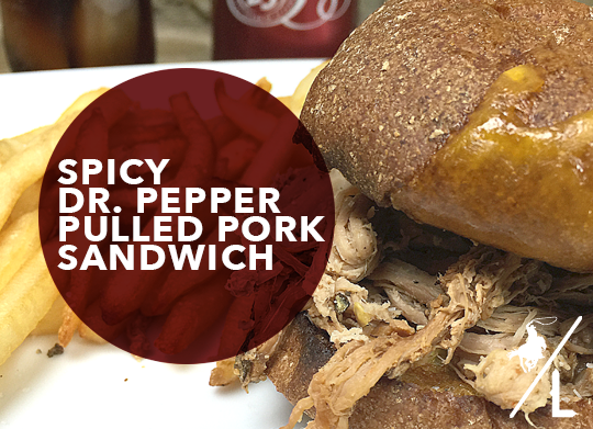 A Cowboy's Life: Spicy Dr. Pepper Pulled Pork Sandwich