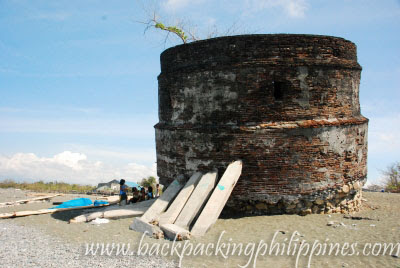 ruins baluarte luna la union watchtower
