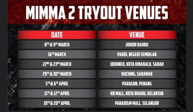 Malaysia invasion MMA season 2 schedule