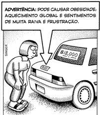advertência - carro