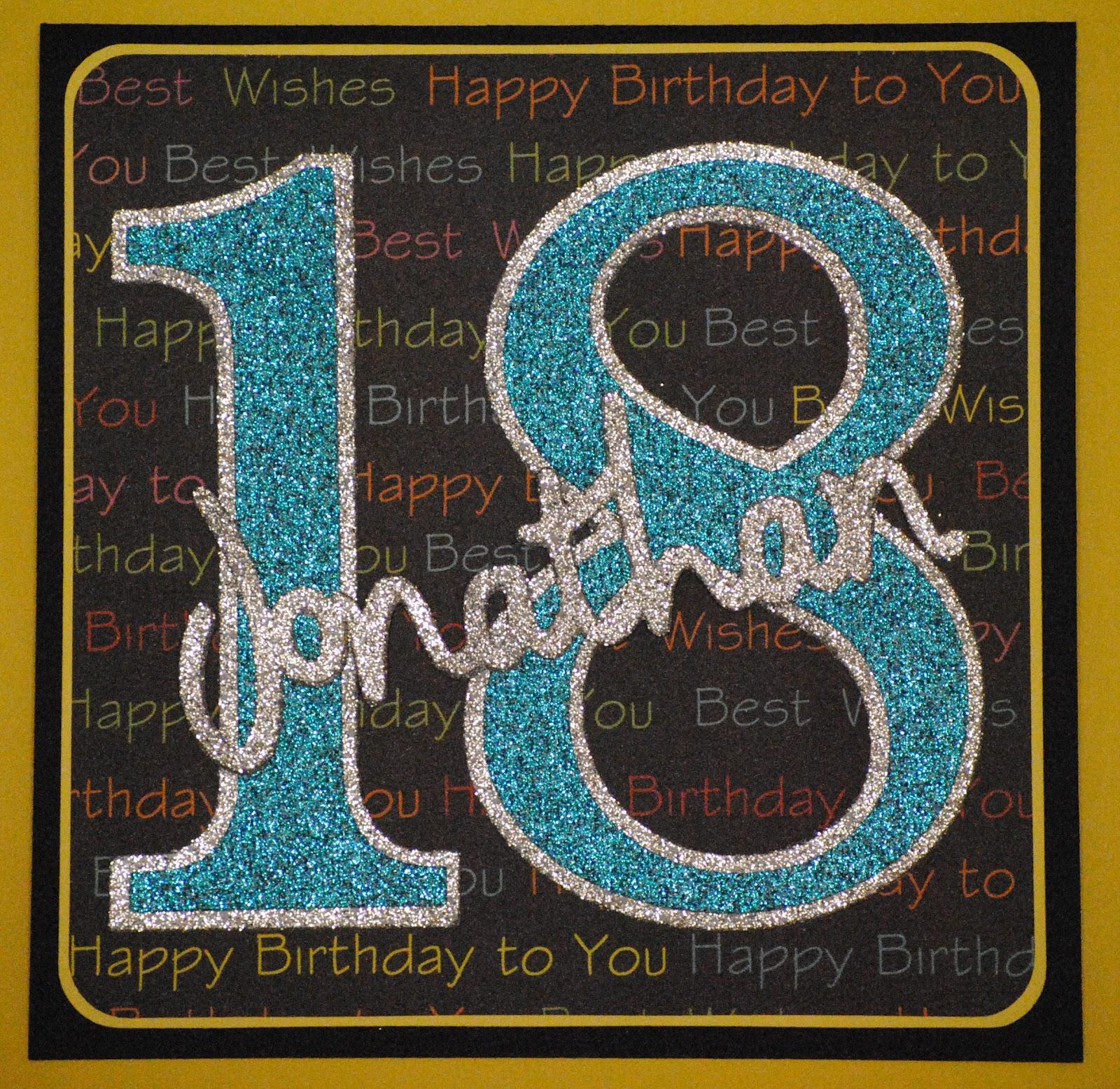 K-E Kreations: 18th Birthday Card