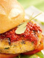 Sanduíche de Grão-de-Bico com Frutas Vermelhas (vegana)