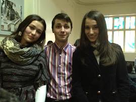 Elevii  Laura Neacşu,Leon Bordea, Betty Savin, Simpozion Unirea, naţiunea a făcut-o!  24.01.2013...