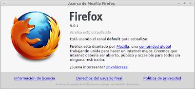 Firefox 9.0.1 en Ubuntu 11.10 y Linux Mint Debian Edition