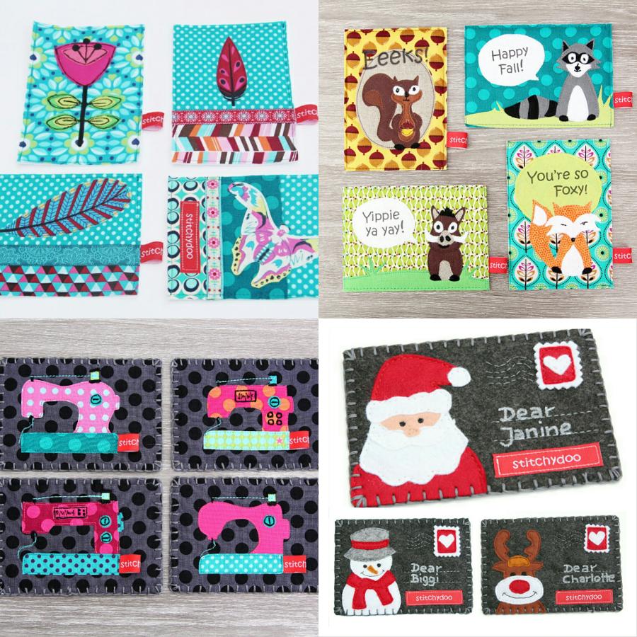 stitchydoo: Stoffkartentausch 2014 - Meine genähten Karten