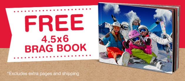 FREEBIE ALERT: Get A 4.5 x 6 Brag Book for FREE ($2.99 S&H)
