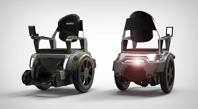 Tecnoneo scalevo silla de ruedas que puede subir for Silla de ruedas para subir escaleras