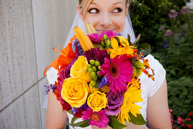 Urban Flowers: Vibrant Colors for a Late Summer Wedding