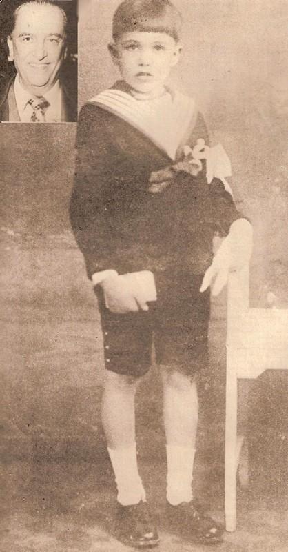 Hugo del Carril de niño, pequeño joven