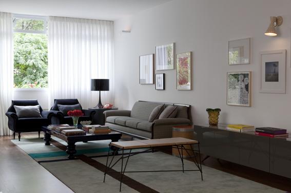 amc arquitetura. apartamento. decoraçao. sala estreita e comprida