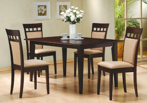 5piece dining set in rich cappuccino