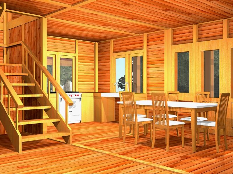 gambar interior desain rumah kayu