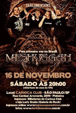 Meshuggah Brazil tour 2013