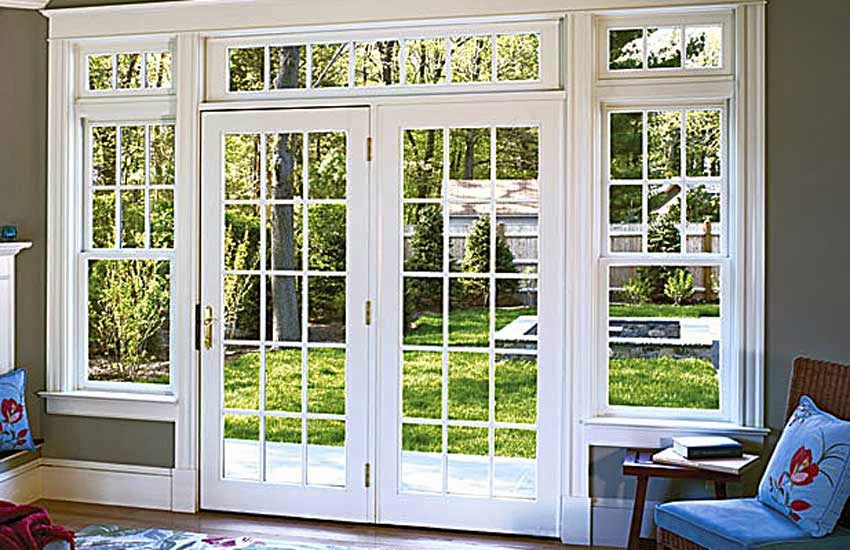 Delightful Patio Doors With Windows On Top That Open