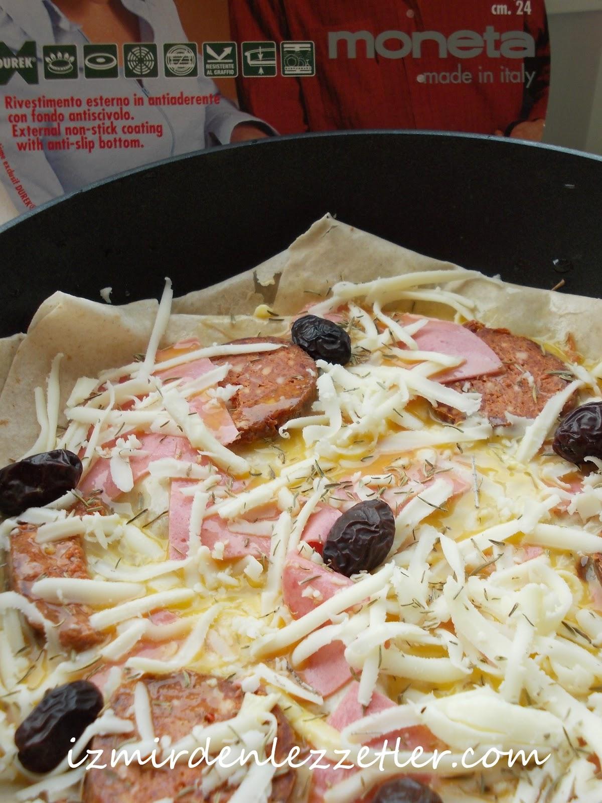 Tavada Yufkadan Pizza Tarifi