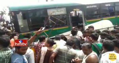 Road Accident in Visakhapatnam RTC Bus Hits Auto 9 Spot Dead , 9 Spot Dead RTC Bus Hits Auto in Visakhapatnam
