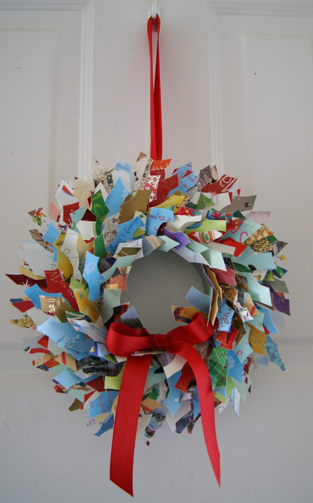 Crafty Sy Christmas Card Wreath