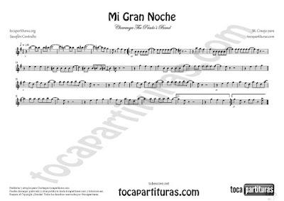 Mi Gran Noche Partitura de Saxofón alto y Alto Saxophone en Mi bemol de Raphael Sheet Music for Alto Saxophone Eb