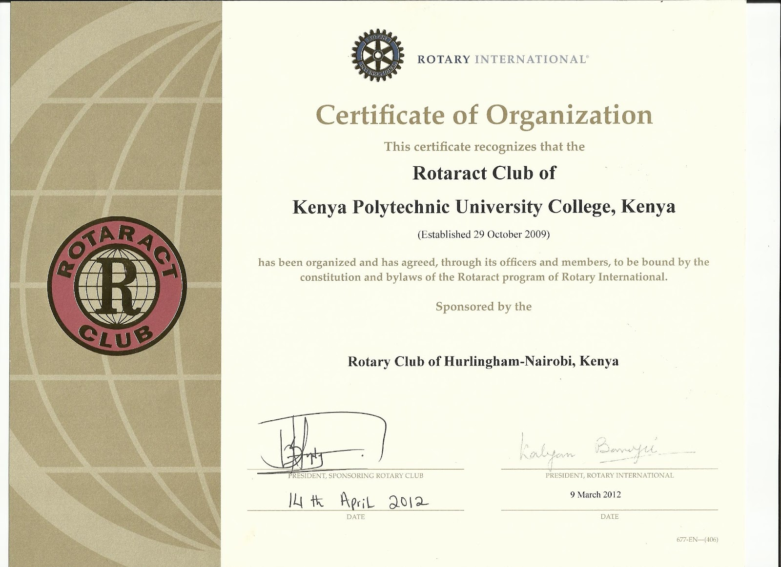 Our charter certificate cheers rotaract club of technical our charter certificate cheers alramifo Image collections