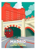 Cocheras del Metro, Cuatro Caminos, 1919. Cartel de @latinapaterson