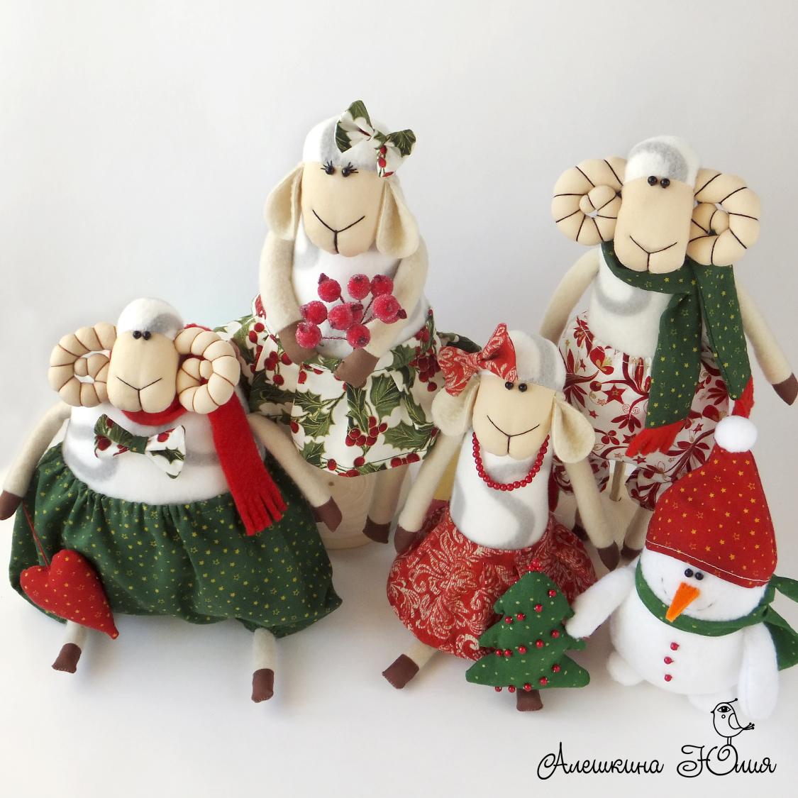 новогодние овечки и барашки