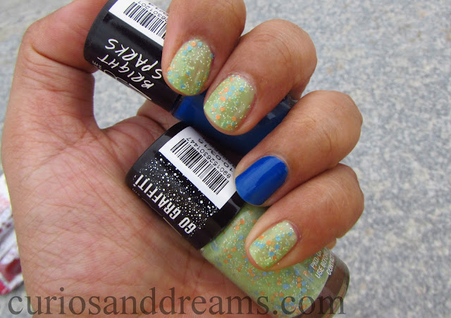Maybelline Color Show Go Graffiti review, Maybelline Color Show Go Graffiti green graffiti review, Maybelline Color Show Green Graffiti review, Maybelline Color Show Bright Spark Balzing Blue review, Maybelline Color Show  Balzing Blue review
