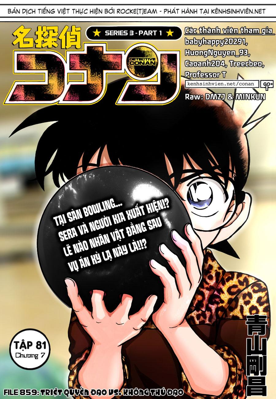 01, Thám tử lừng danh Conan chap 859   NarutoSub
