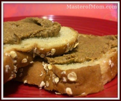 Probiotic Peanut Butter on Honey-Oat Toast
