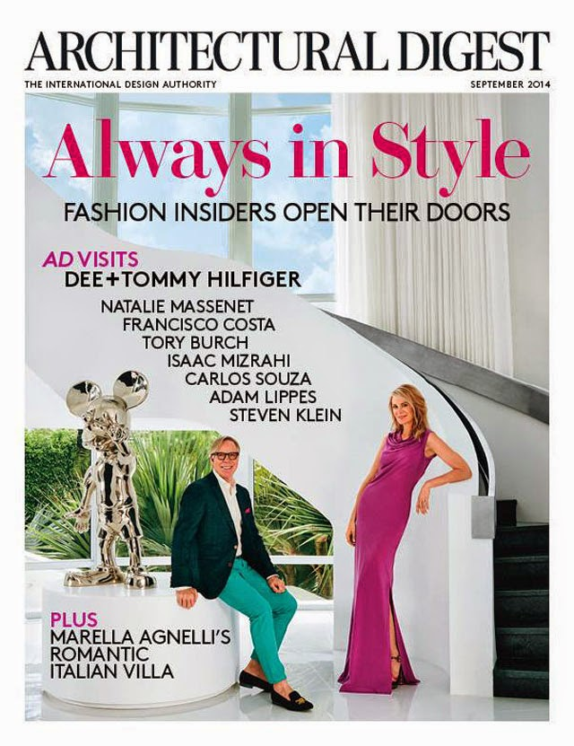 Tommy And Dee Hilfiger Cover Architectural Digest Sepember 2014