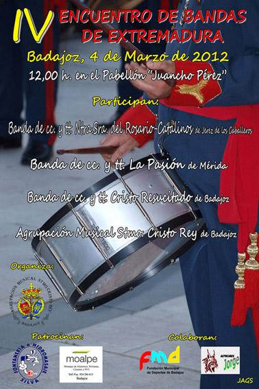 Cartel IV Certamen de Bandas de Extremadura