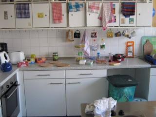 Küche im Studentenwohnheim