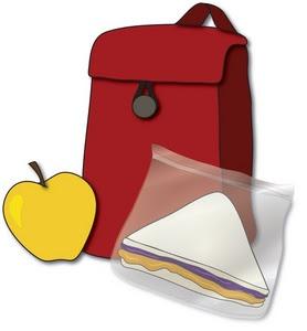 mochila y desayuno para el colegio