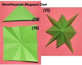 langkah-langkah cara melipat kertas origami untuk anak-anak berbentuk payung yang mudah sekali 10