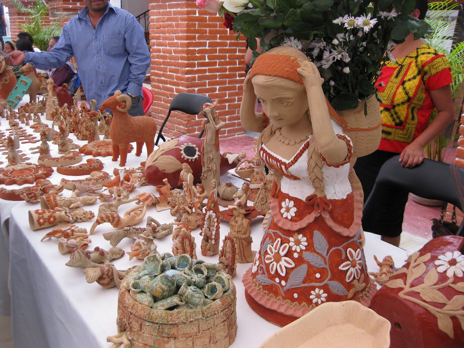 Artesanato Com Tecido De Guarda Chuva ~ Gestores Culturales de Oaxaca Exposición Artesanal de Barro Verde en Santa María Atzompa, Oaxaca