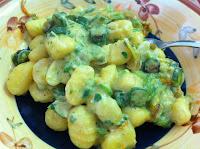 gnocchi fiori di zucchina zafferano