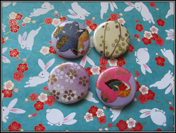 Badges Papier Lovely Strass et Cie artisanat fait main a Little market
