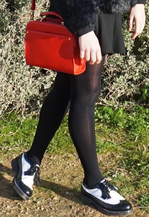 bolso rojo vintage