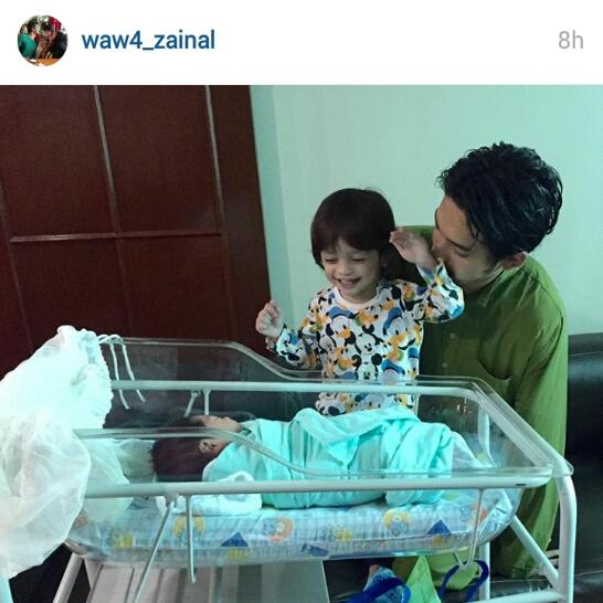 Bayi kedua wawa zainal dan suami, bayi kedua wawa zainal,