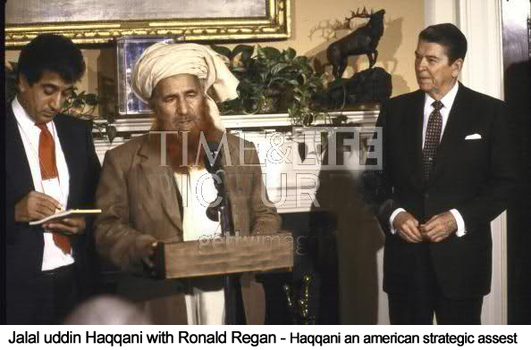How the U.S. created the Haqqani Network = Bird, Oggy and Wolf talk about all kinds of Important Sheeeit!! Jalaluddin+Haqqani+with+Ronald+Reagan+Time+Magazine