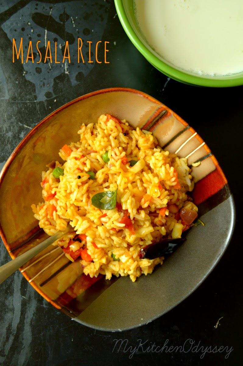 Masala rice recipe leftover rice recipe masala rice recipe1 ccuart Gallery